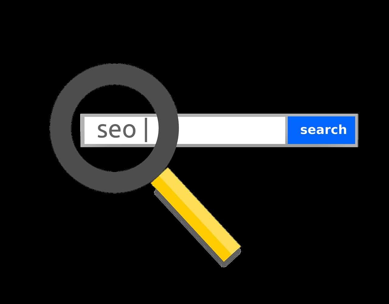 SEO og søgeoptimering ikon